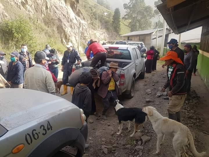 Alerta por el volcán Sangay en Chimborazo