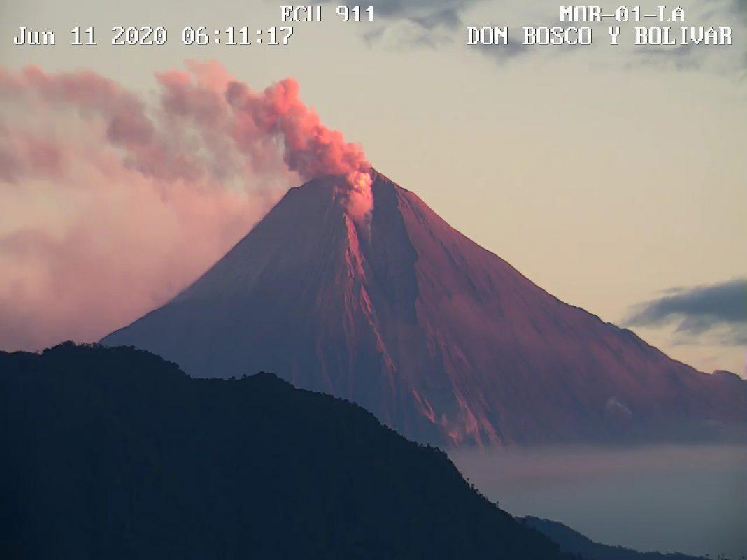Alerta por el volcán Sangay