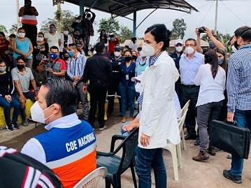 volcán Sangay afectó a cinco cantones. https://laprensa.com.ec