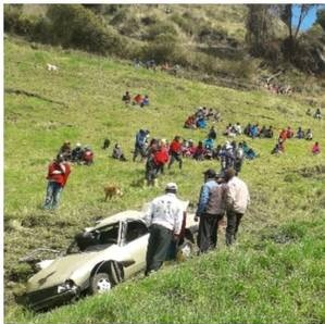 Accidente de tránsito Guamote