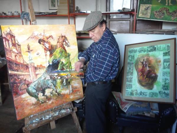 Rafael Gutiérrez artista riobambeño