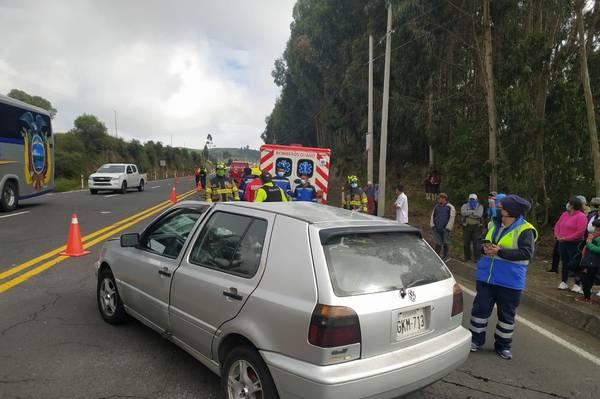 Accidente en sector de La Andaluza