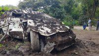 Deslizamiento de tierra en Chunchi