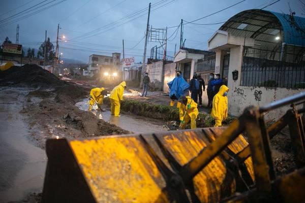 Fuertes lluvias Riobamba
