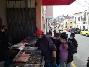 Venta de mariscos Riobamba