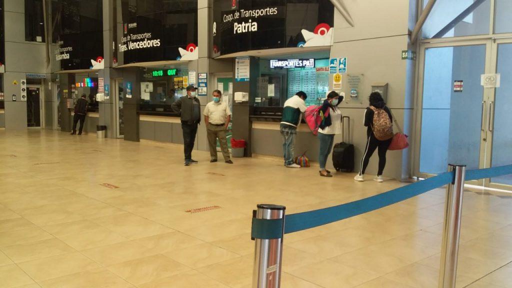 Paro de transporte interprovincial Chimborazo