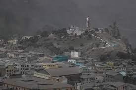 Ceniza volcánica en Chimborazo