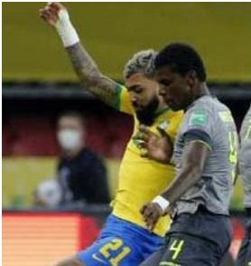 Brasil ganó 2-0 a un aguerrido Ecuador