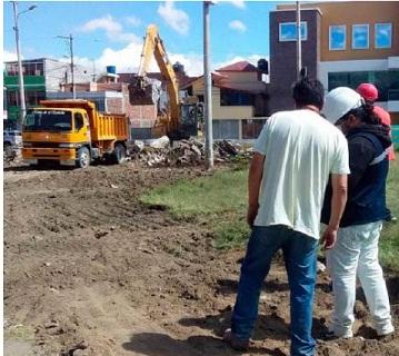 reconstrucción del parque Riobamba