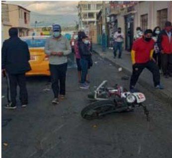 Accidentes de tránsito motos Riobamba