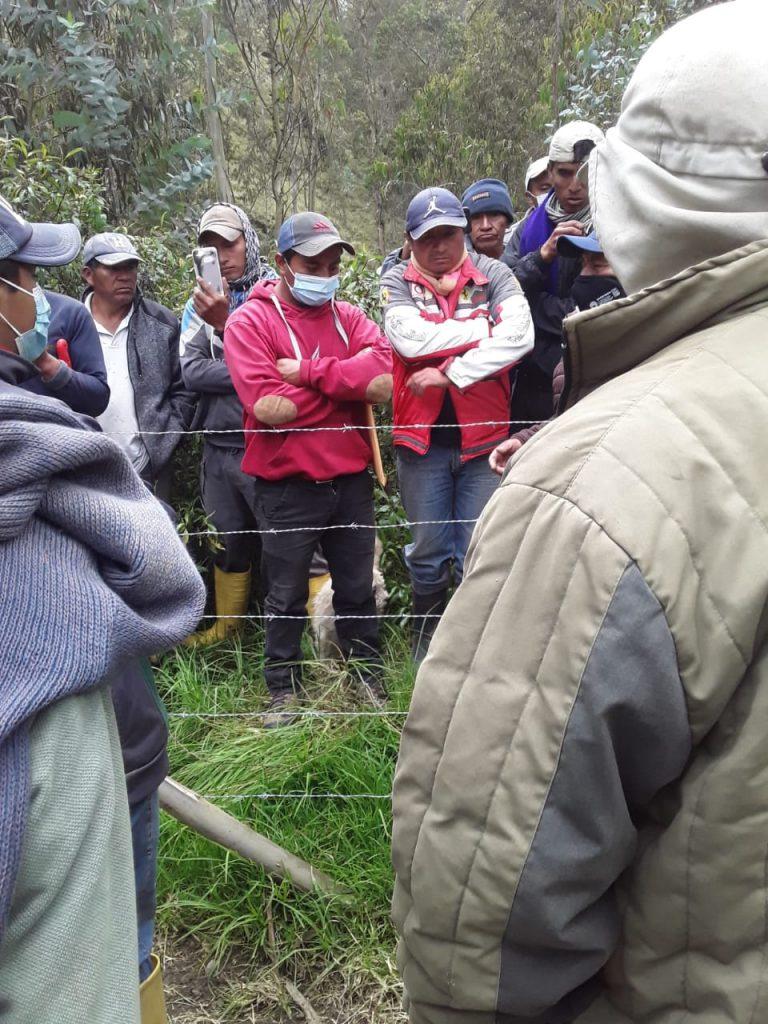 Comunidades quebrada Chalán