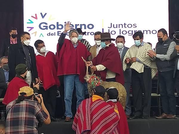 Lasso entregó 627 mil dólares a Chimborazo