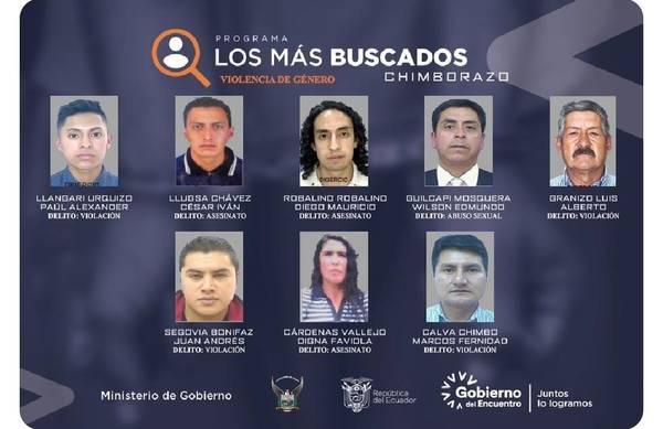 """""""Los más buscados"""" de Chimborazo."""